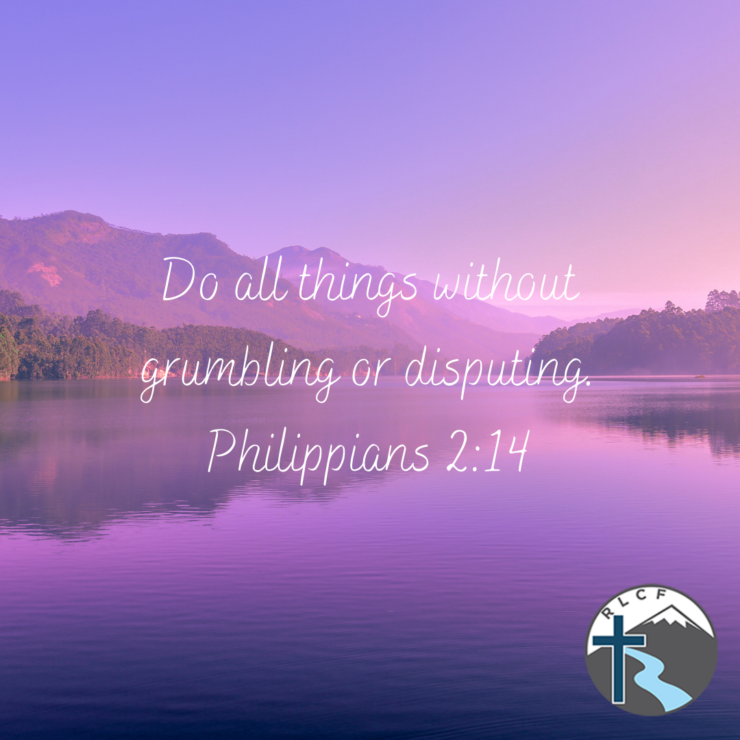 """""""Do all things without grumbling or disputing."""" —Philippians 2:14 NASB"""